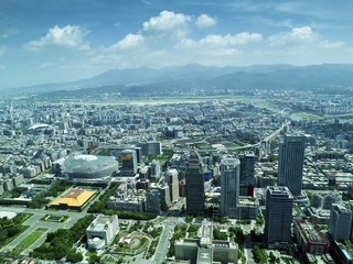 Taipei city from top view
