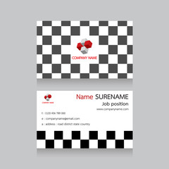 pattern name card for business, cube, abstract