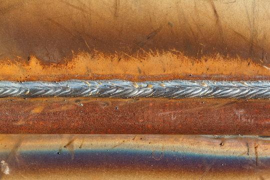 welding seam onto steel sheet metal