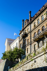 Architecture in the Historical Centre of Tallinn, Estonia. It's part of the UNESCO World Heritage site
