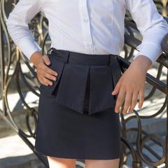 school uniform for girls, black skirt