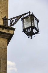 Street lamp in wrought iron