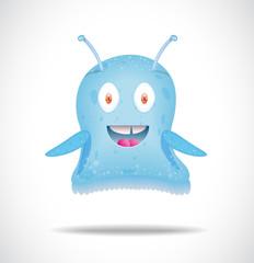 Blue happy alien.