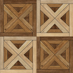 Obraz Texture of fine brown parquet - fototapety do salonu
