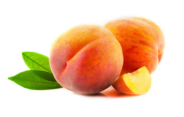 Ripe peach fruits.