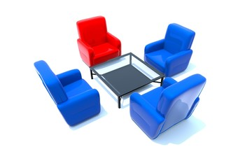3d armchair. Illustration