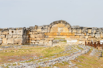 Gate to Hierapolis, Pamukkale, Turkey. UNESCO World Heritage