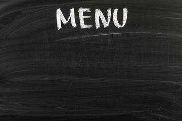 Menu, Blackboard, Restaurant.