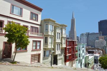 Photo sur Plexiglas San Francisco Transamerica Pyramid in San Francisco - California USA
