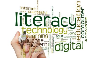 Digital literacy word cloud