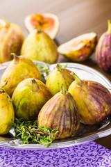 Autocollant pour porte Fleur California figs