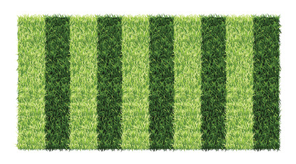 Striped green grass soccer field
