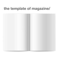 Vector open blank magazine. Vector illustration