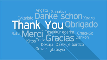 THANK YOU in different languages, word tag cloud