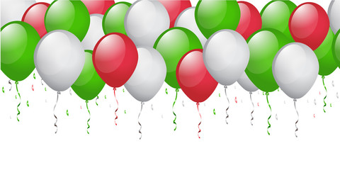 green red white balloon background