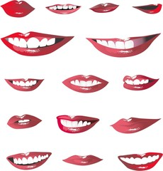 Lips isolated