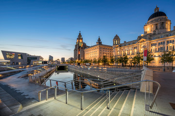 The Three Graces on Liverpools Pier One