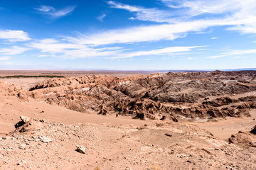 Formations in the Atacama desert in Chile