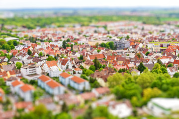 Panorama vom Hohenasperg - Tiltshift Aufnahme