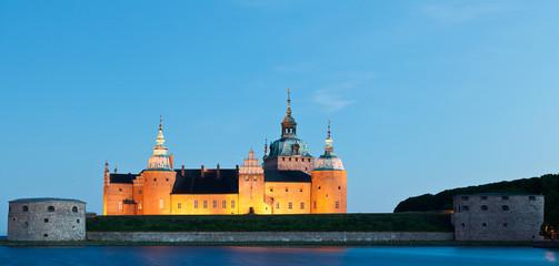 Schloss Kalmar beleuchtet