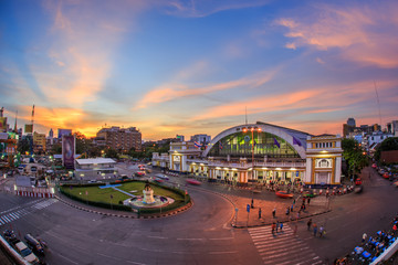 Hua lamphong train station, in Bangkok city, Thailand