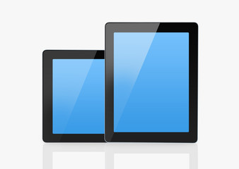 Smart tablet with blue screen