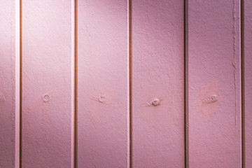 beautiful vertical pink wood background texture with light from