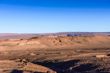 Beautiful nature of the Atacama desert on the sunset, Chile