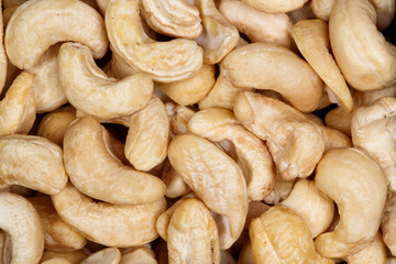 Cashew nuts close-up.
