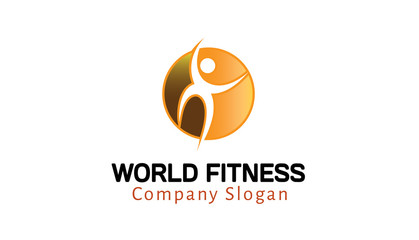 World Fitness Logo template