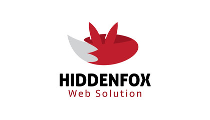 Hidden Fox Logo template