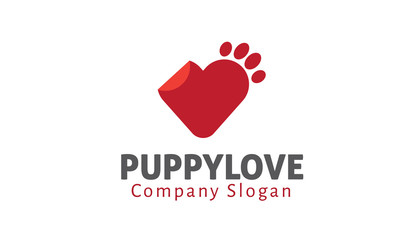 Puppy Love Logo template