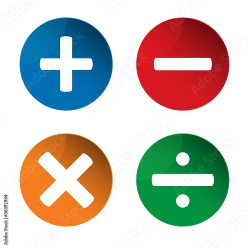 Quot Mathematics Signs Add Icon Minus Icon Multiply Icon
