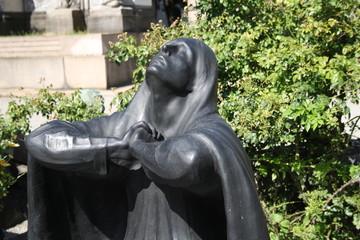 Italy, milan. Gravestone at Cimitero Monumentale