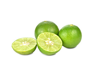 Fresh lime isolated on a white background