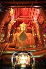 The main Buddha image, Wat Phanan Choeng in Ayutthaya