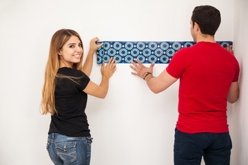 Decorating a white wall