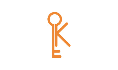 Modern K of Key Logo Illustration