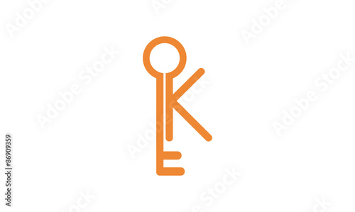 modern k of key logo illustration stock image and royalty free