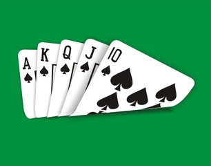 Poker spades flush