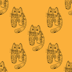 Seamless pattern od cats