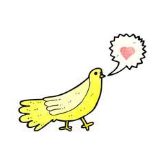 cartoon love bird