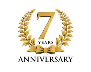 anniversary logo ribbon wreath 7