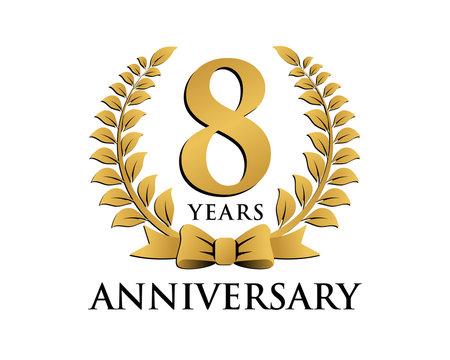 anniversary logo ribbon wreath 8