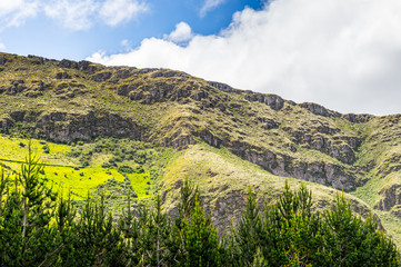 Mountain hill in Ecuador