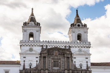 Church of San Francisco of the Historic center of Quito. Historic center of Quito is the first UNESCO WOrld Heritage site