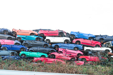 Schrott Fahrzeuge