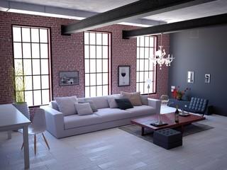 Industrial Loft Living Space