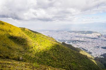 Mountain hill near Quito, Ecuador