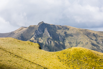 Mountain hill near Quito, Ecuador